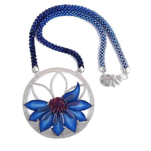 Big Blue Bloom Necklace
