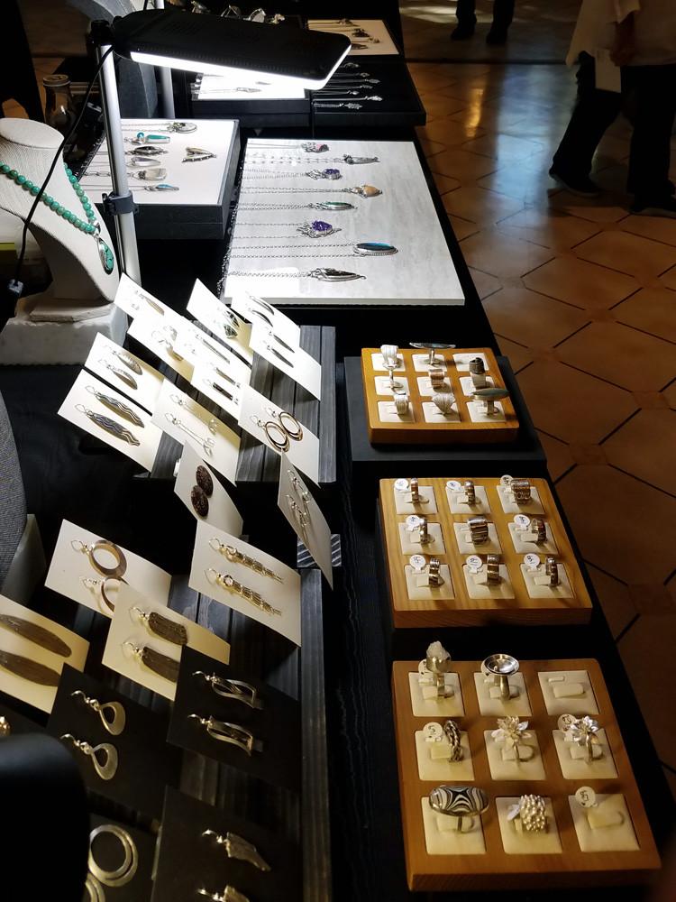 Laurie Van Mondfrans' display.