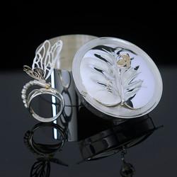 Waterlily Dragonfly Jewelry Box