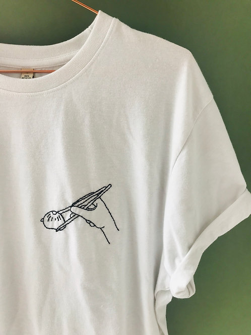 HAND EMBROIDERED TEE | Select Design