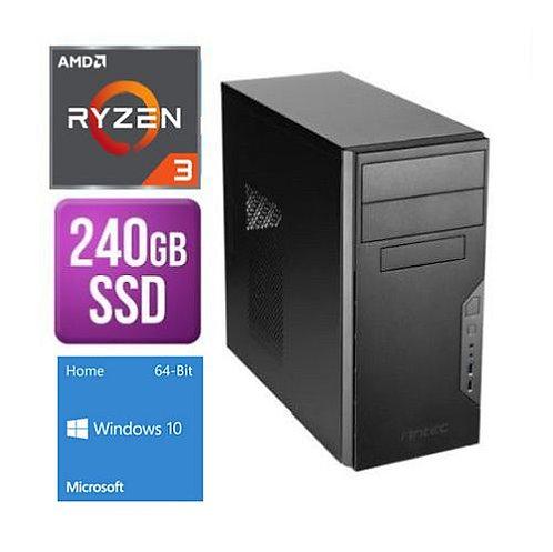 Spire Tower PC Antec VSK3000B Ryzen 3 3200G 8G