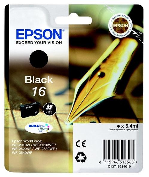 Epson 16 Black Ink Cartridge (C13T16214010)