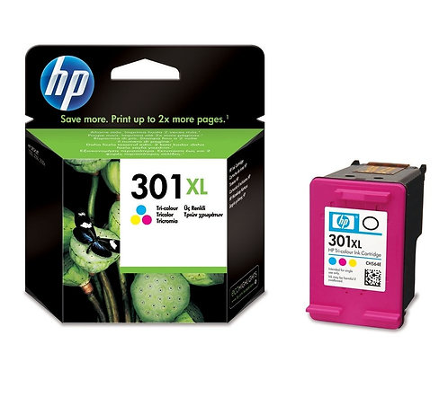 High Capacity HP 301XL Tri-Colour Ink Cartridge (CH564EE)