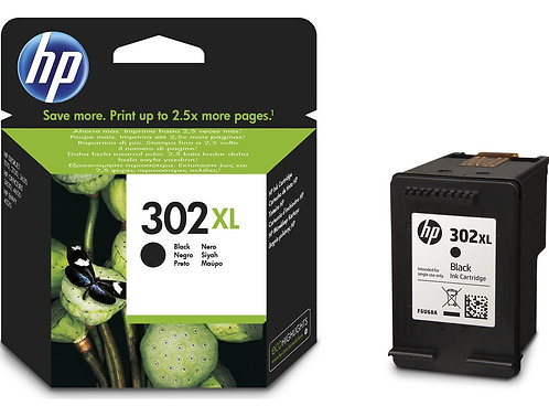 High Capacity HP 302XL Black Ink Cartridge (F6U68AE)