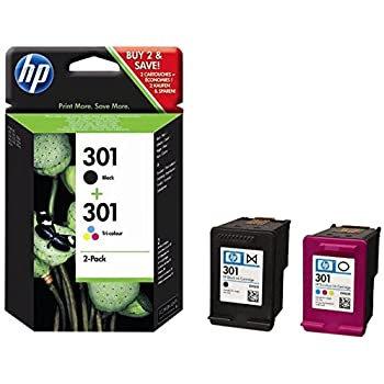 Twinpack of HP 301 Ink Cartridges (N9J72AE)