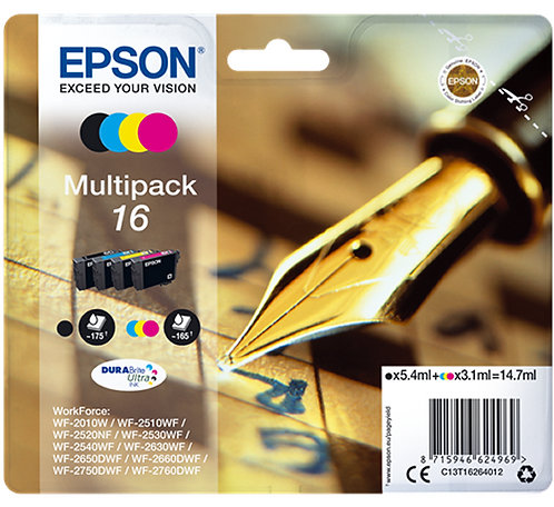 Multipack of Epson 16 Ink Cartridges (C13T16264010)