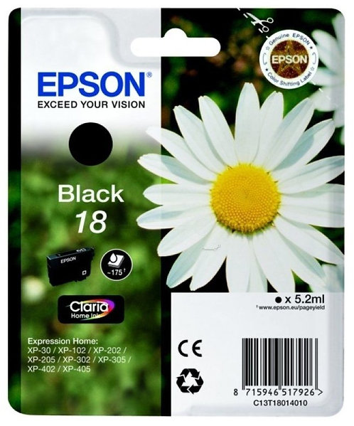 Epson 18 Black Ink Cartridge (C13T18014010)
