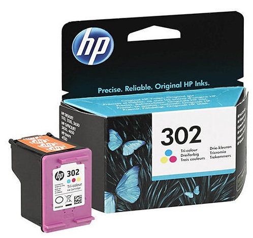 HP 302 Tri-colour Ink Cartridge (F6U65AE)