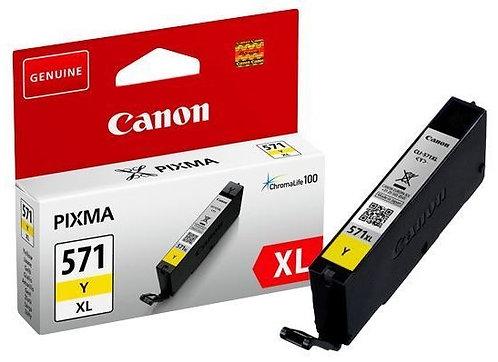 High Capacity Canon CLi-571XL Yellow Ink Cartridge (0334C001)