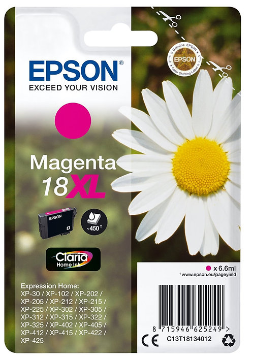High Capacity Epson 18 XL Magenta Ink Cartridge (C13T18134010)