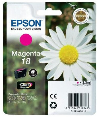 Epson 18 Magenta Ink Cartridge (C13T18034010)