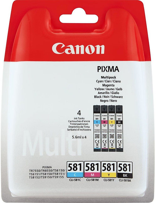 Colour Multipack of Canon CLi-581 Ink Cartridges (2103C004)