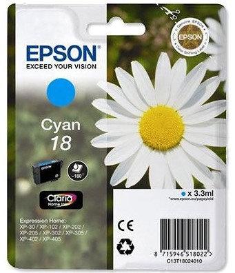 Epson 18 Cyan Ink Cartridge (C13T18024010)