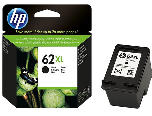 High Capacity HP 62XL Black Ink Cartridge (C2P05AE)