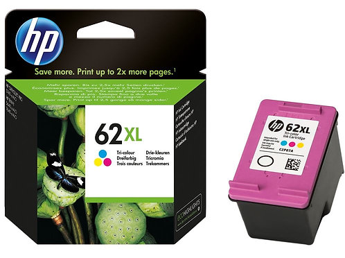 High Capacity HP 62XL Tri Colour Ink Cartridge (C2P07AE)