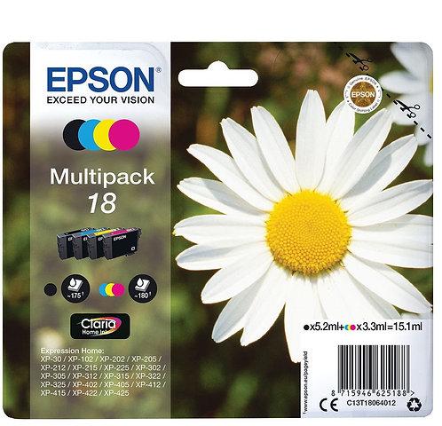 Multipack of Epson 18 Ink Cartridges (C13T18064012)