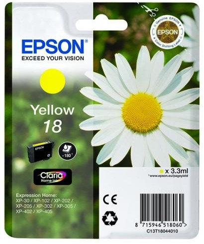 Epson 18 Yellow Ink Cartridge (C13T18044010)