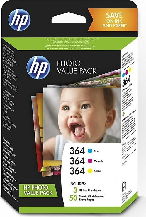 HP 364 Photo Value Pack includes 50x Photo paper (T9D88EE)