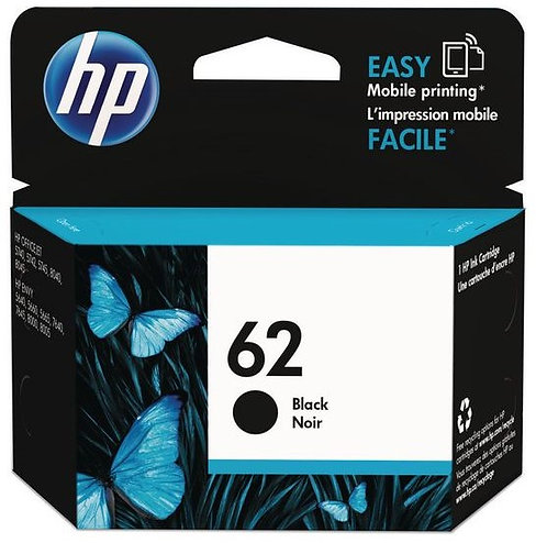 HP 62 Black Ink Cartridge (C2P04AE)