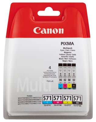 Multipack of Canon CLI-571colour Ink Cartridges