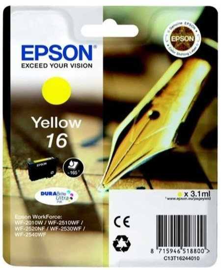 Epson 16 Yellow Ink Cartridge (C13T16244010)