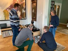 Inspeksjon f.v. Christian, Egil, Petter, Finn