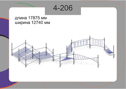 Канатная конструкция полоса препятствий 4-206