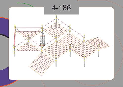 Канатная конструкция полоса препятствий 4-186
