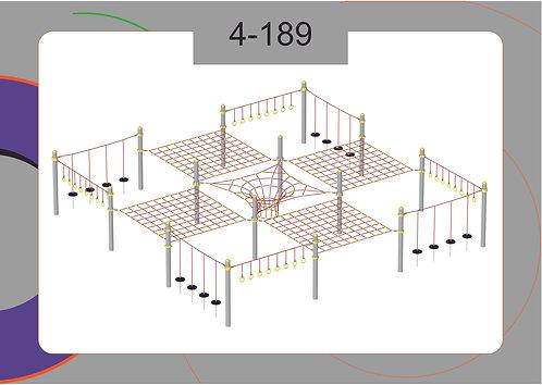 Канатная конструкция полоса препятствий 4-189
