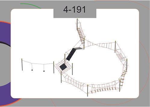 Канатная конструкция полоса препятствий 4-191
