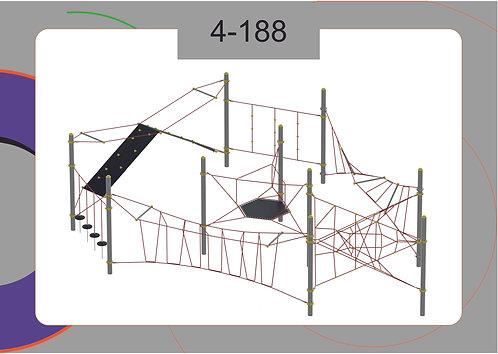 Канатная конструкция полоса препятствий 4-188