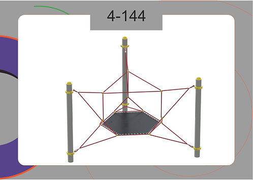 Канатная конструкция батут 4-144