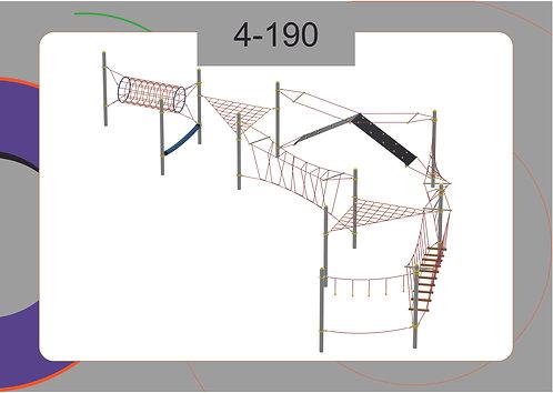 Канатная конструкция полоса препятствий 4-190