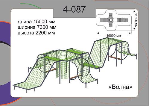 Канатная конструкция пространственные сетки 4-087