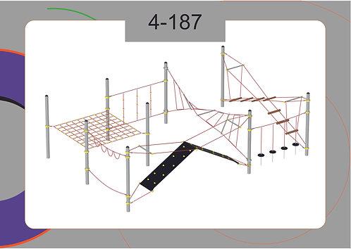 Канатная конструкция полоса препятствий 4-187