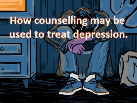 How counselling may be used to treat depression.