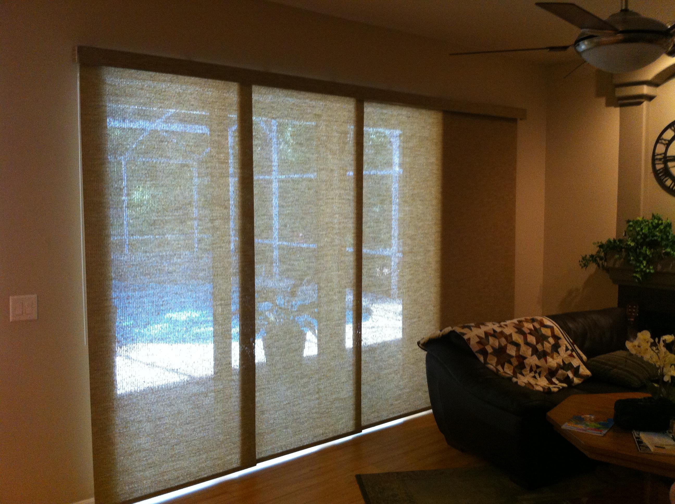 sunshade for sliding glass doors