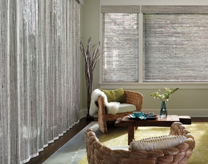 Provenance® Woven Wood Shades Fabric: Calliope   Color: Pebble White