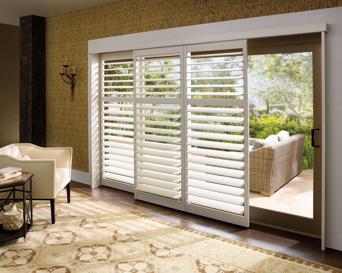 shutters panels over slider
