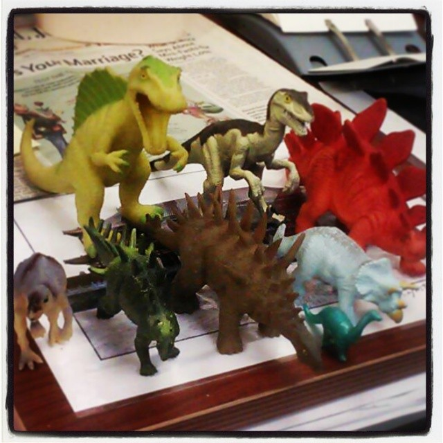 Instagram - My #dinosaurs that sit at my desk at work.jpg