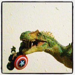 Instagram - Allosaurus likes Captain America really happy for the tasty gift.jpg