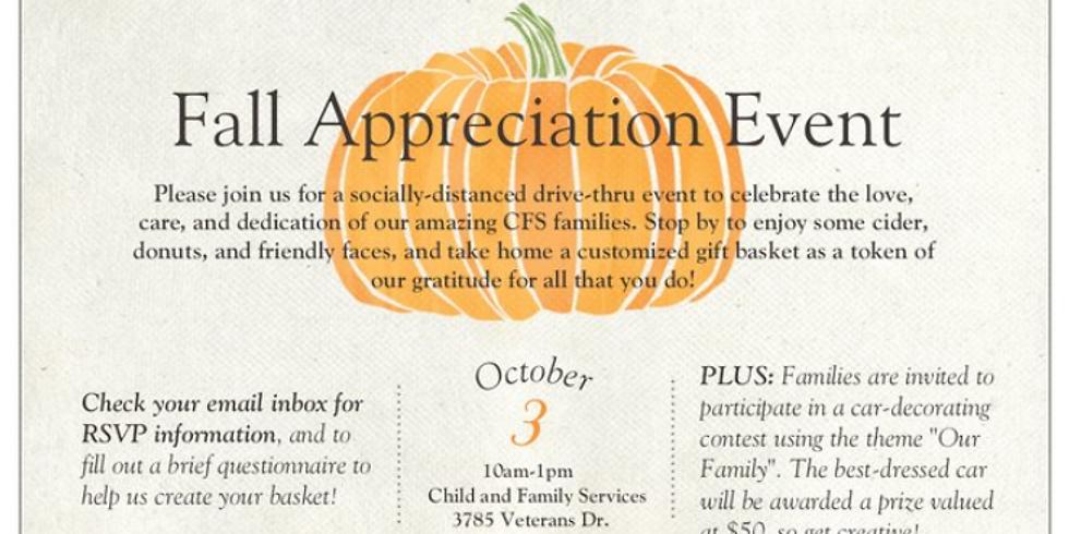 Foster Parent Fall Appreciation Event