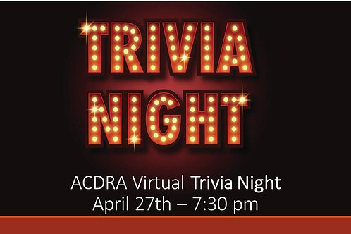 Trivia Night Entry Fee