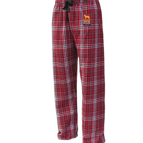 Flannel Pants with Logo