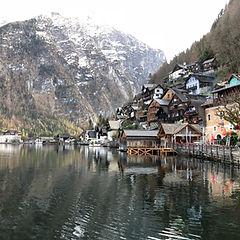 Город Хальштад, альпийские озера