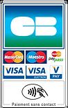 taxi accepte tous paiements, carte bleu, cb, visa