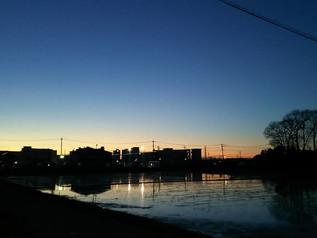 みどりの風 ある日の夕方の風景です