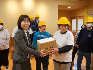第一生命労働組合 埼玉東部支部様からヘルメットを寄贈して頂きました
