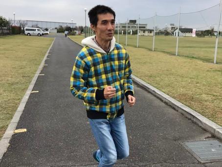 駅伝大会に向けて走る練習しています。
