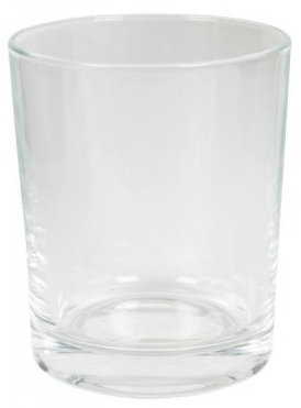 Mundspülbecher Glas Chic transparent